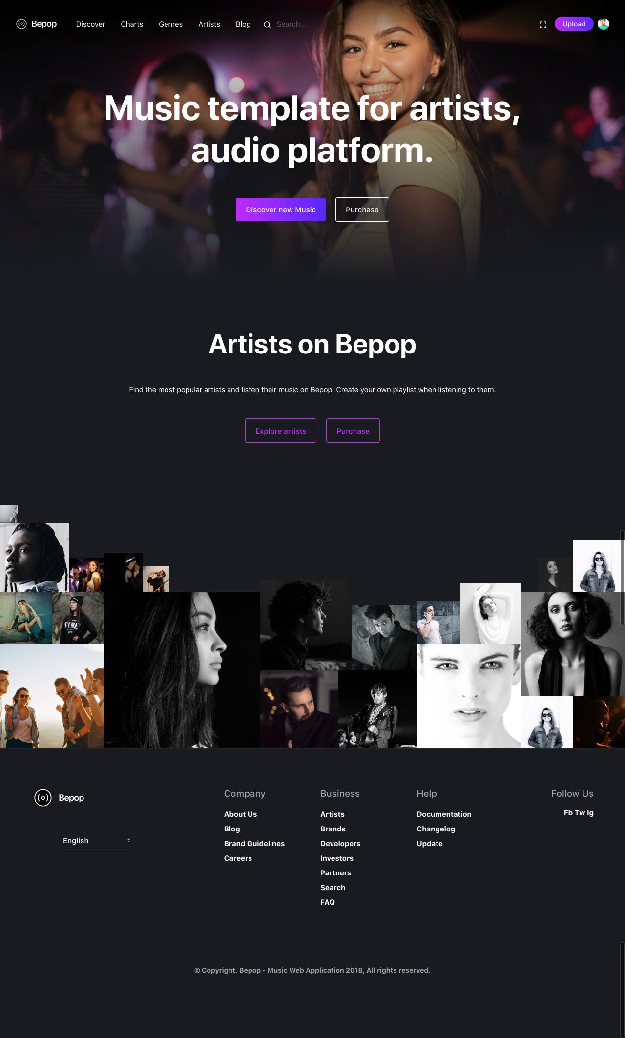 Bepop home page